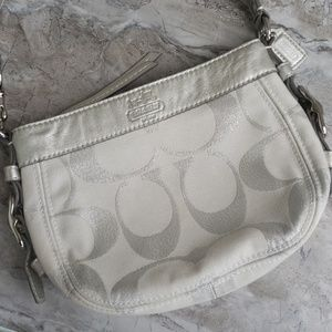 Coach ZOE metallic silver shoulder bag B0973-42715